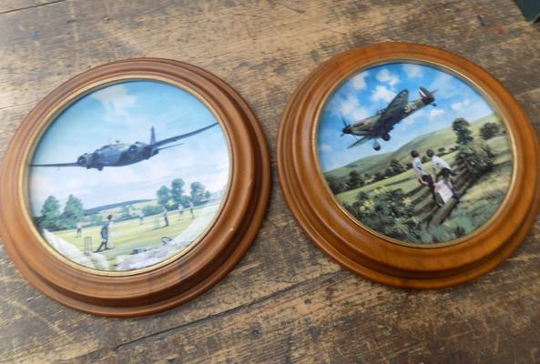 2x Royal Doulton plates - depicting aircraft during WWII