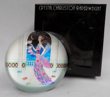 Crystal Charleston paperweight
