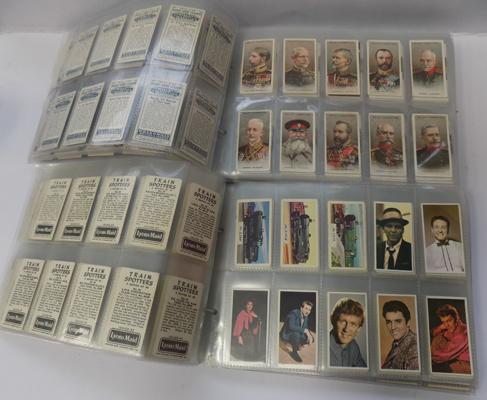 Selection of cigarette cards & others