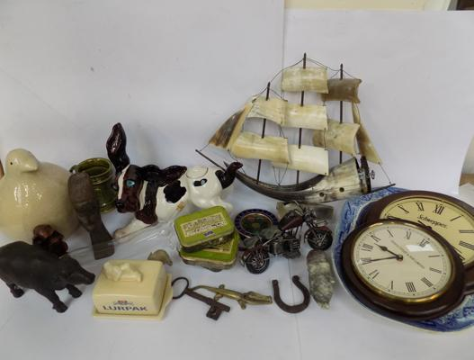Box of mixed collectables inc Lurpak, Holkham etc