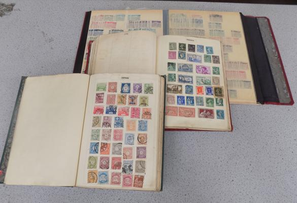 Three albums of early World/European stamps
