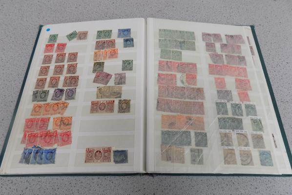 Album of GB stamps, many George V etc...