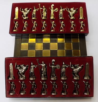 Greek chess set with board