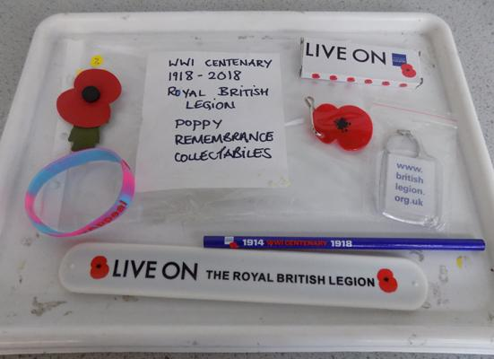 WWI Centenary poppy collectables