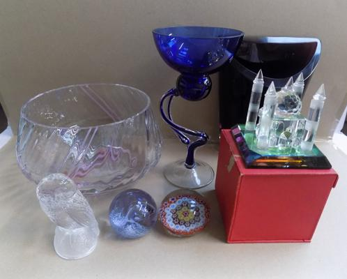 Selection of quality glass items inc 2x Caithness