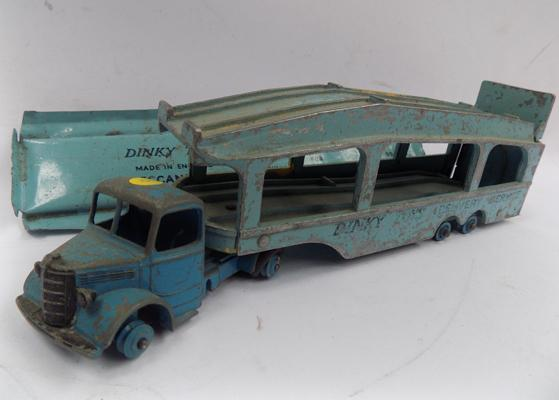 Dinky No. 582, 1950s Pullmore car transporter with ramp. No. 994