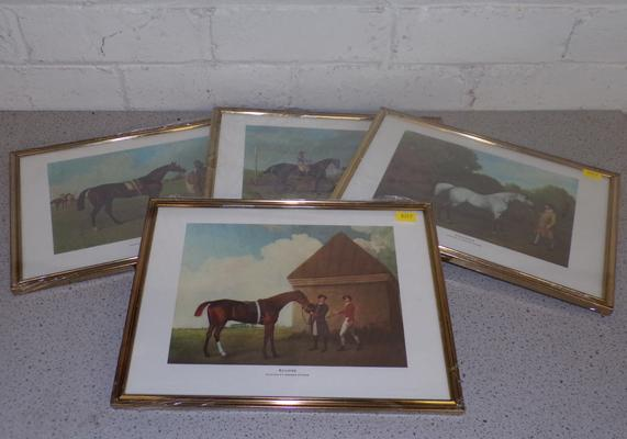 4x Limited edition horse racing prints