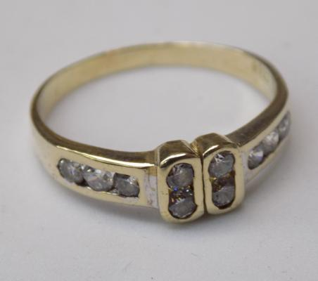 14ct Gold sapphire ring size O