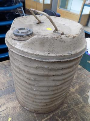 WWII aircraft oil drum