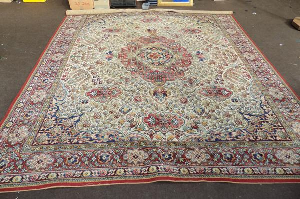 Large woven rug, approx. 10 feet by 9 feet