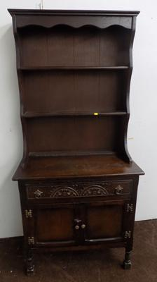Wooden dresser with 1 drawer and cupboard underneath