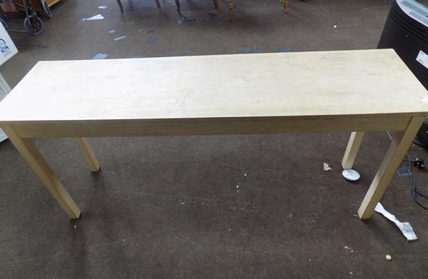 Long solid wood table