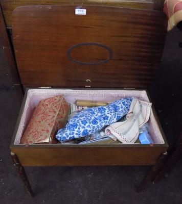 Sewing box & contents