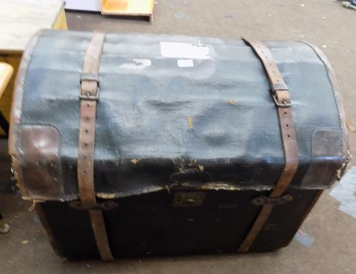 Bradford made antique traveling trunk
