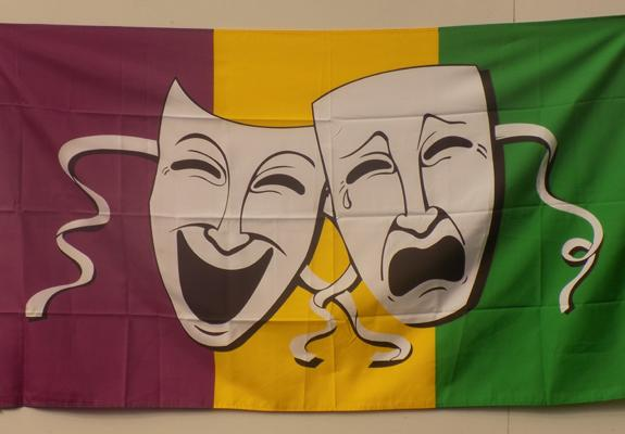 5 foot x 3 foot 'Comedy & Tragedy' flag