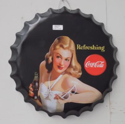 16inch Coca Cola tin plate sign