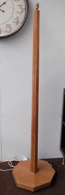 Tall wooden lamp stand