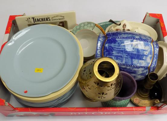 Box of mixed collectables inc brass items