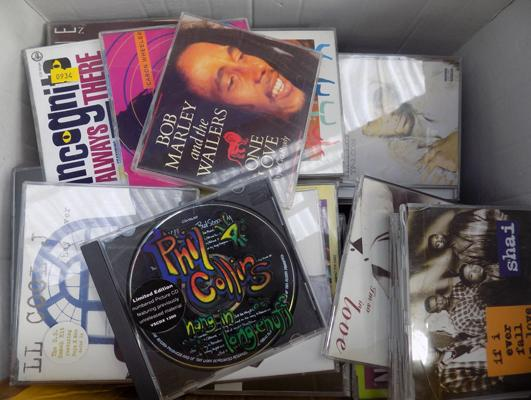 Box of approx. 80 CD's incl. ltd edition Phil Collins