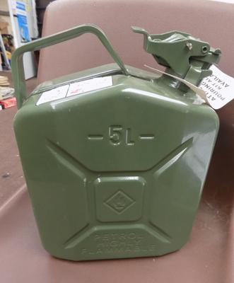 Brand new 5 litre metal jerry can