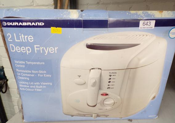 Durabrand 2 litre deep fryer - unboxed but not used W/O