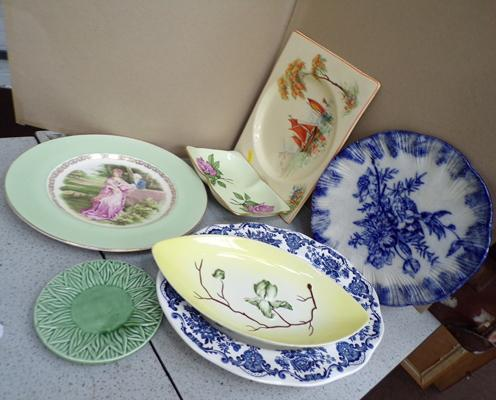 Selection of plates, incl. Carltonware, Clarice Cliff