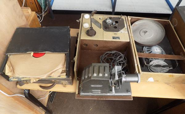 Record player/ projector with records