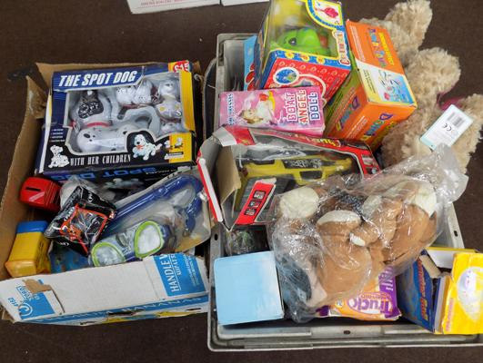 Selection of toys inc new & marine-2x large boxes