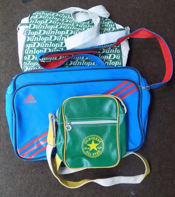 Selection of sport's bags, incl. Dunlop, Converse & Adidas
