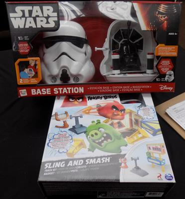 Star Wars base station and Angry Birds sling and smash