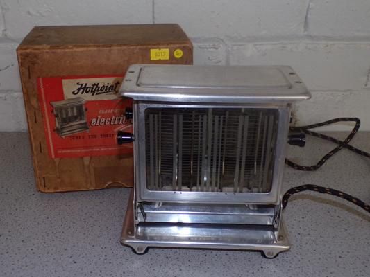 Retro Hotpoint electric toaster inc paperwork-1952 w/o