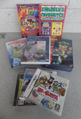 Collection of Nintendo , PS games & DVD's (some sealed & new)