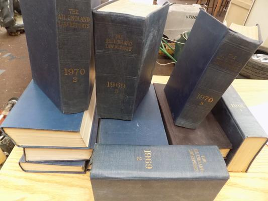 Part set of All England law reports books 1968-1971