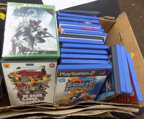 Box of PS2 games and new Xbox One Destiny 2
